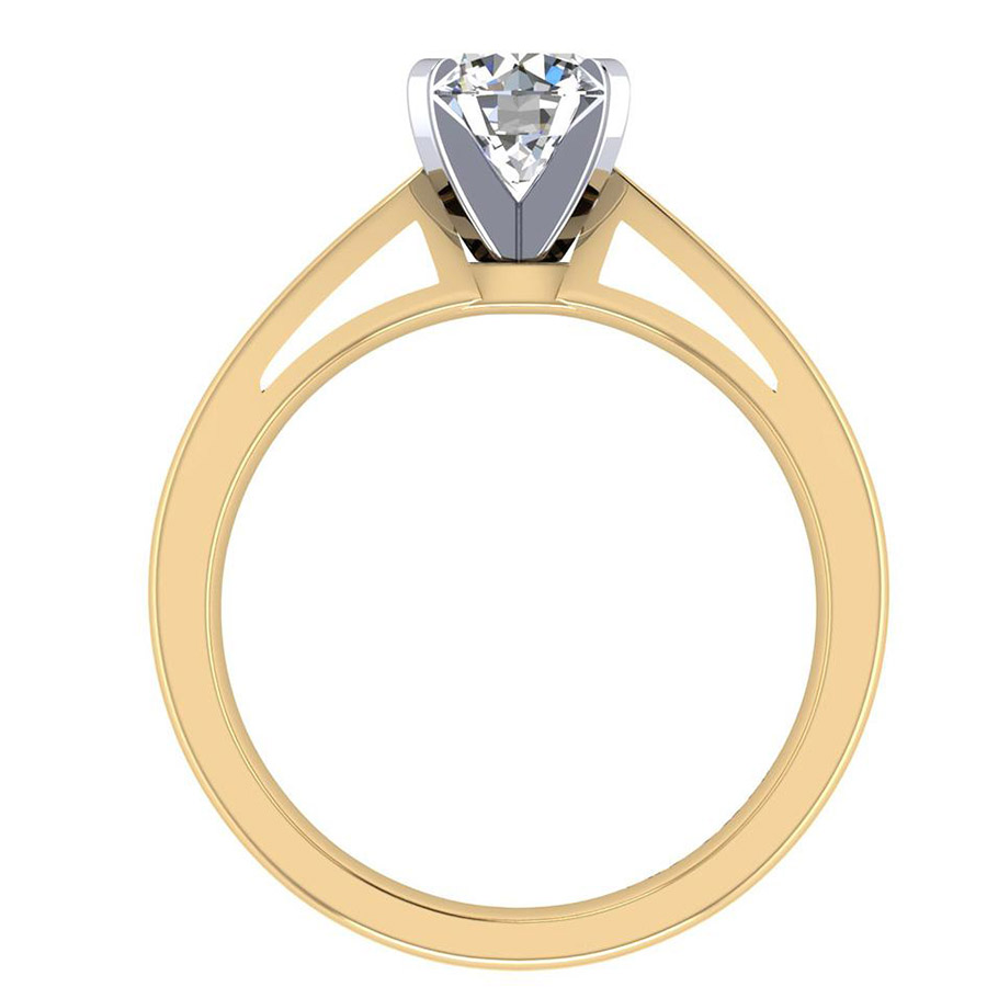 Gabriel 14 Karat Contemporary Engagement Ring ER8132M4JJJ Alternative View 1
