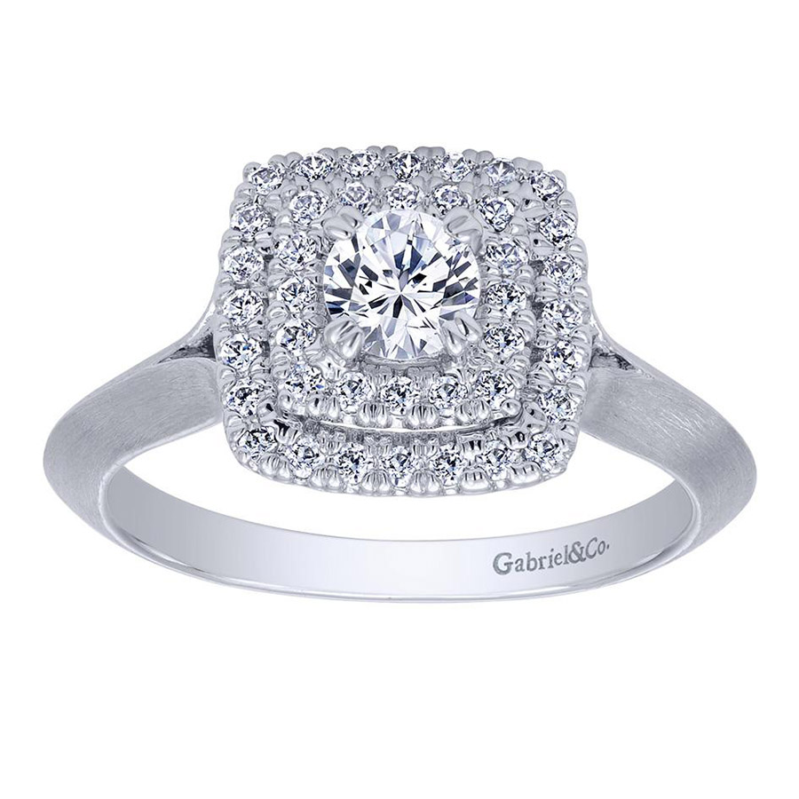 Gabriel 14 Karat Contemporary Engagement Ring ER910159W44JJ Alternative View 4