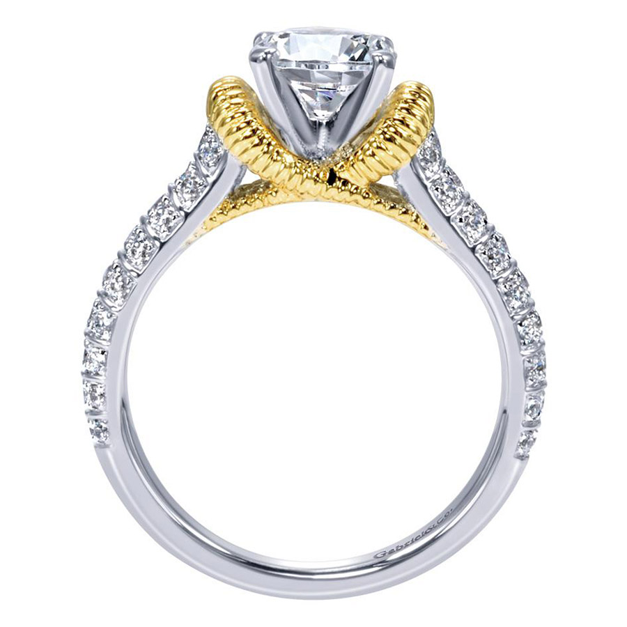 Gabriel 14 Karat Contemporary Engagement Ring ER9533M44JJ Alternative View 1