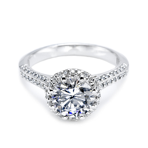 Tacori Platinum Solitaire Engagement Ring 2502RDP6.5 Alternative View 2