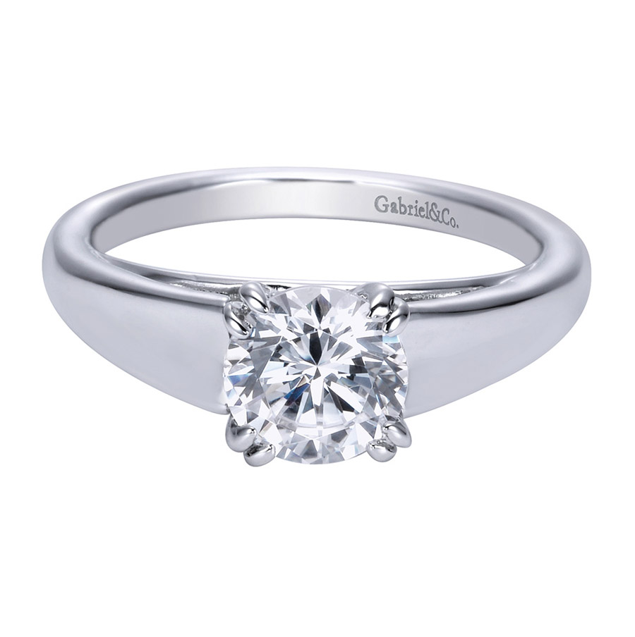 Gabriel Platinum Contemporary Engagement Ring ER8137PTJJJ