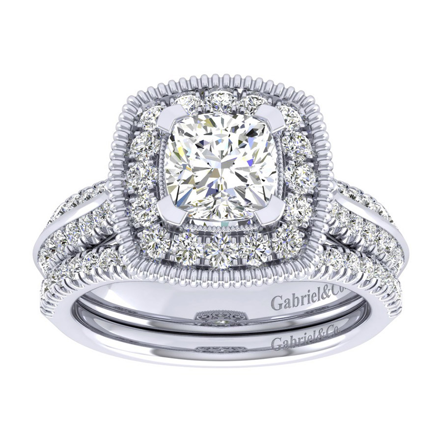 Gabriel 14 Karat Perfect Match Engagement Ring ER002C6AKW44JJ Alternative View 3