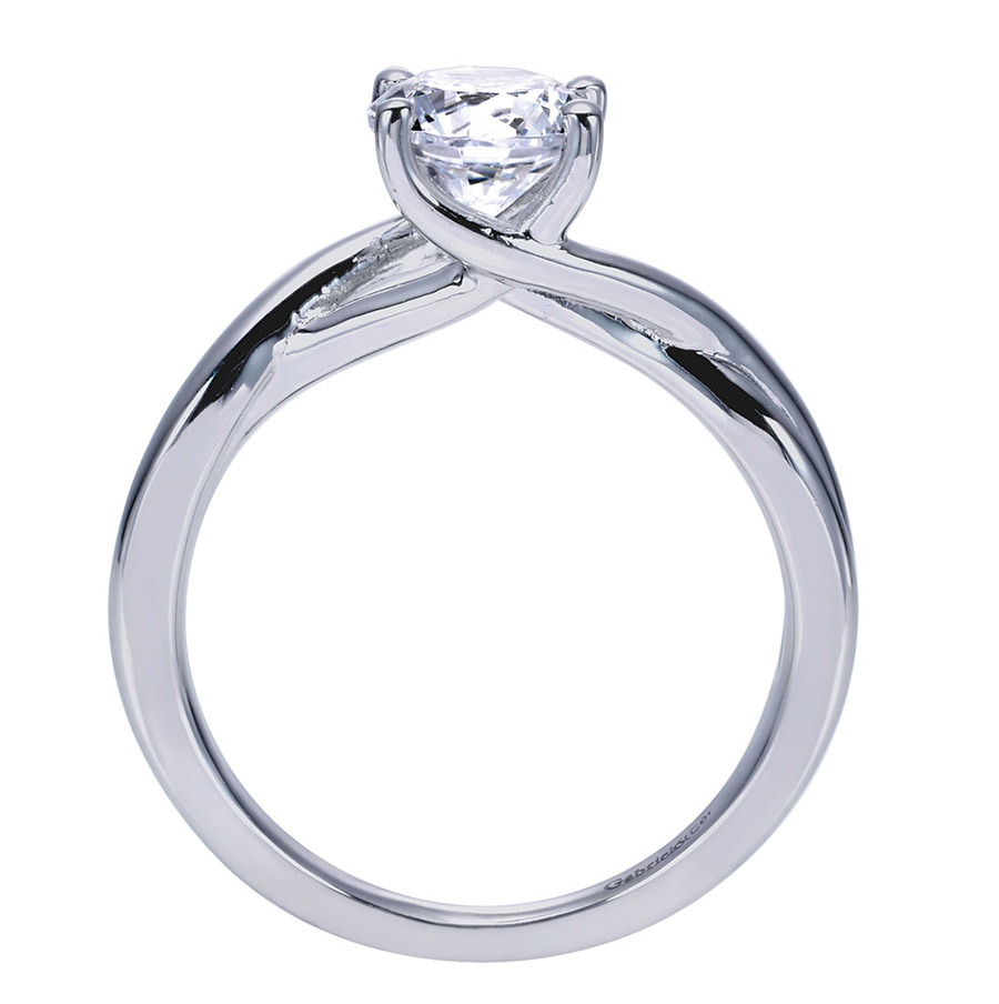 Gabriel Platinum Contemporary Engagement Ring ER8072PTJJJ Alternative View 1