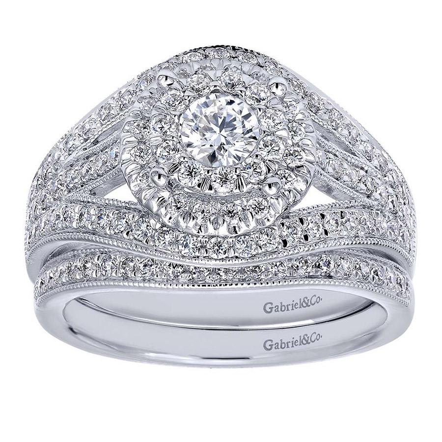 Gabriel 14 Karat Contemporary Engagement Ring ER910425W44JJ Alternative View 3