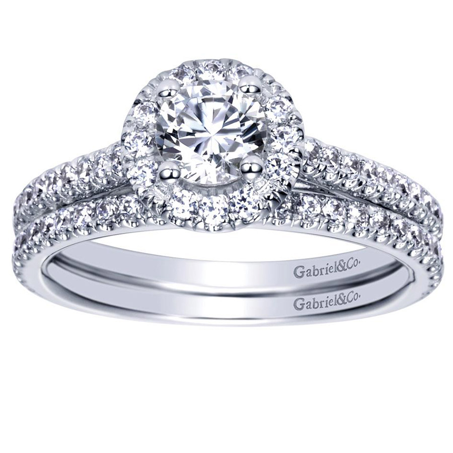 Gabriel 14 Karat Contemporary Engagement Ring ER98523W44JJ Alternative View 3