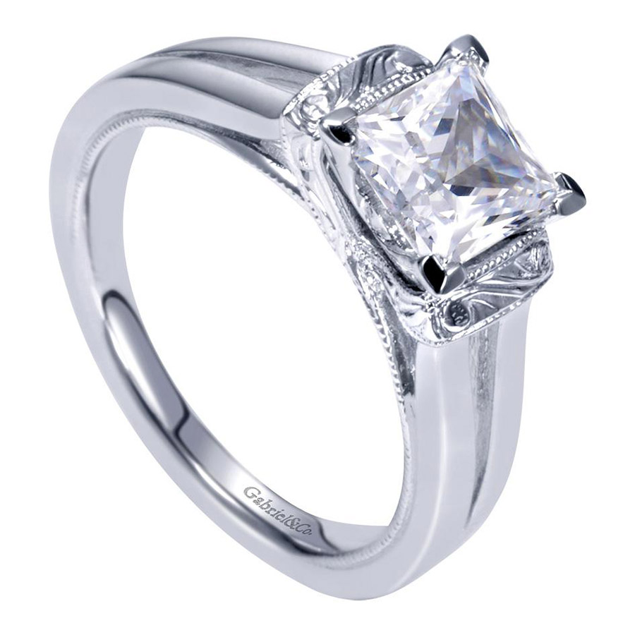 Gabriel Platinum Contemporary Engagement Ring ER9208PTJJJ Alternative View 2