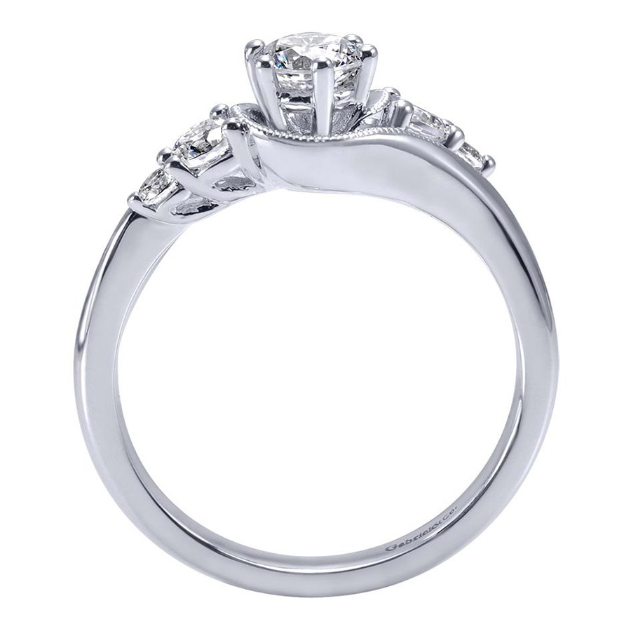 Gabriel 14 Karat Contemporary Engagement Ring ER910064W44JJ Alternative View 1