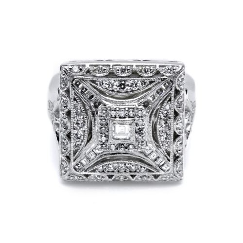 Tacori Diamond Ring Platinum Fine Jewelry FR802