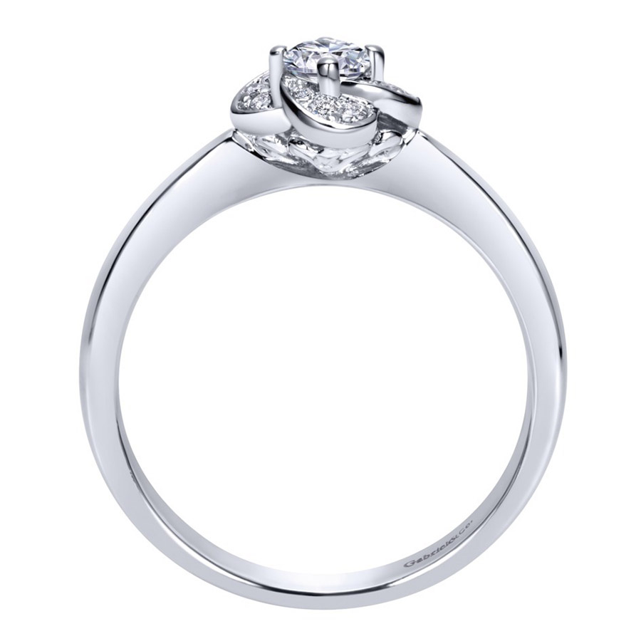 Gabriel 14 Karat Contemporary Engagement Ring ER97764W44JJ Alternative View 1