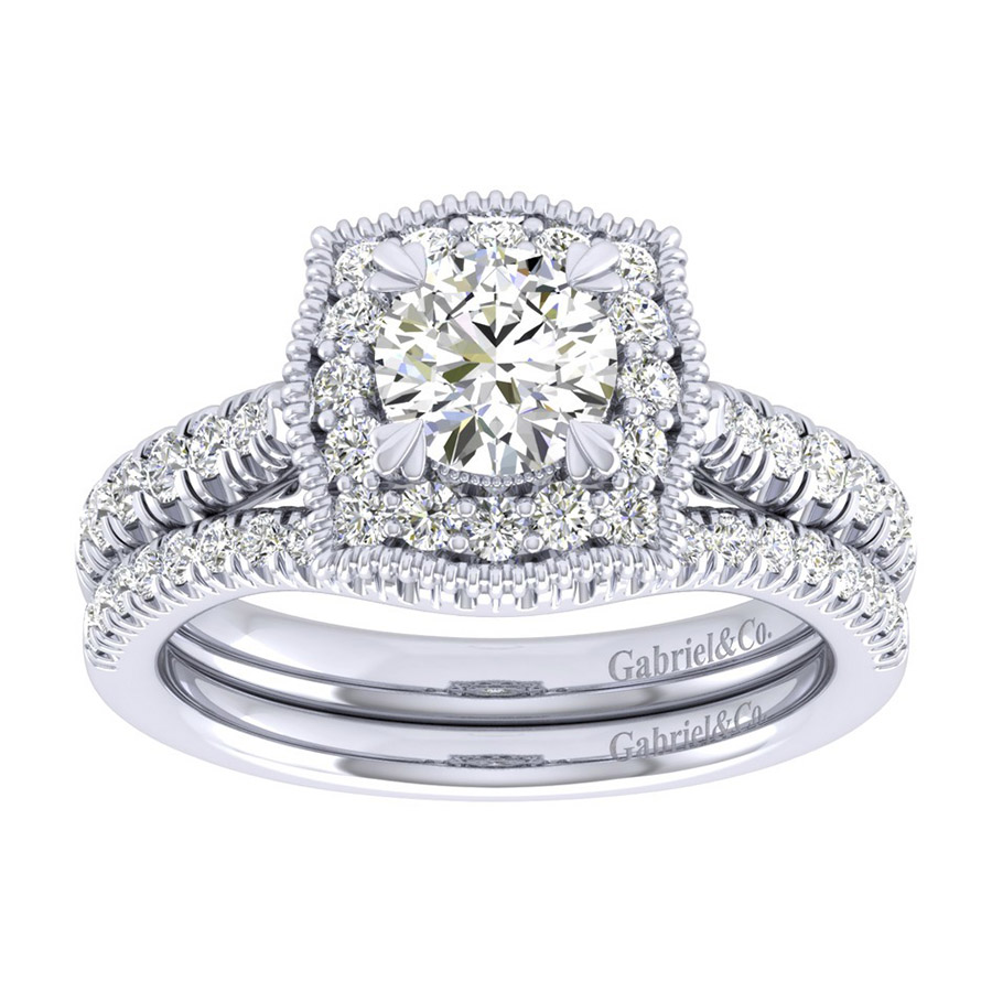 Gabriel 14 Karat Perfect Match Engagement Ring ER039B3AAW44JJ Alternative View 3