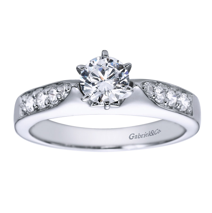 Gabriel 14 Karat Contemporary Engagement Ring ER1702PT3JJ Alternative View 4