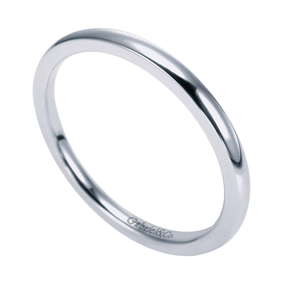 Gabriel Platinum Contemporary Wedding Band WB7944PTJJJ Alternative View 2