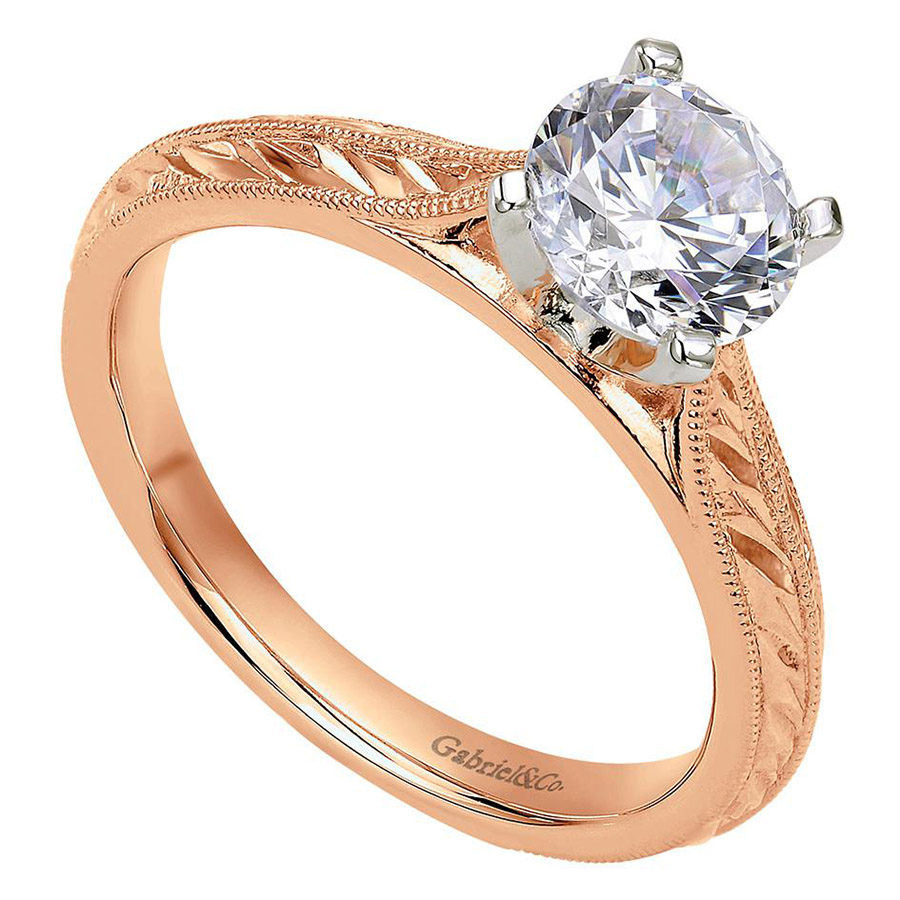 Gabriel 14 Karat Victorian Engagement Ring ER6707T4JJJ Alternative View 2