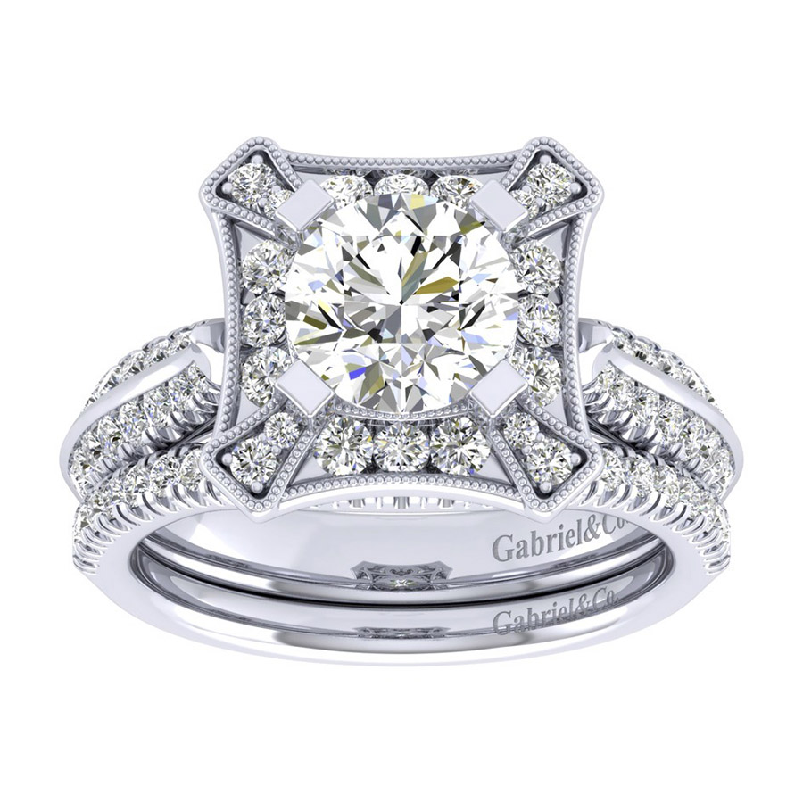 Gabriel 14 Karat Perfect Match Engagement Ring ER002C6AEW44JJ Alternative View 3