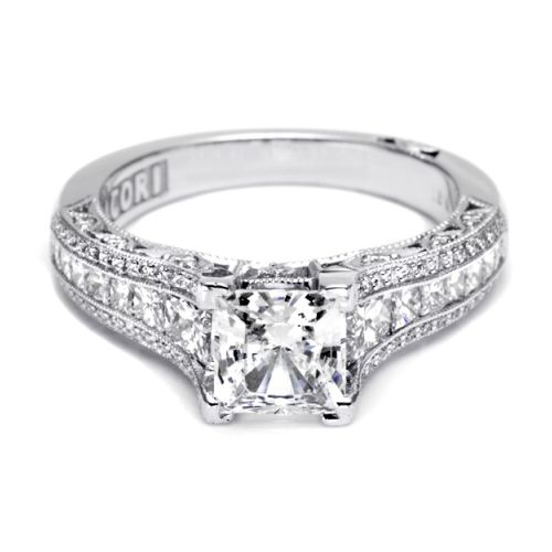 Tacori Crescent Platinum Engagement Ring HT2513PR612X