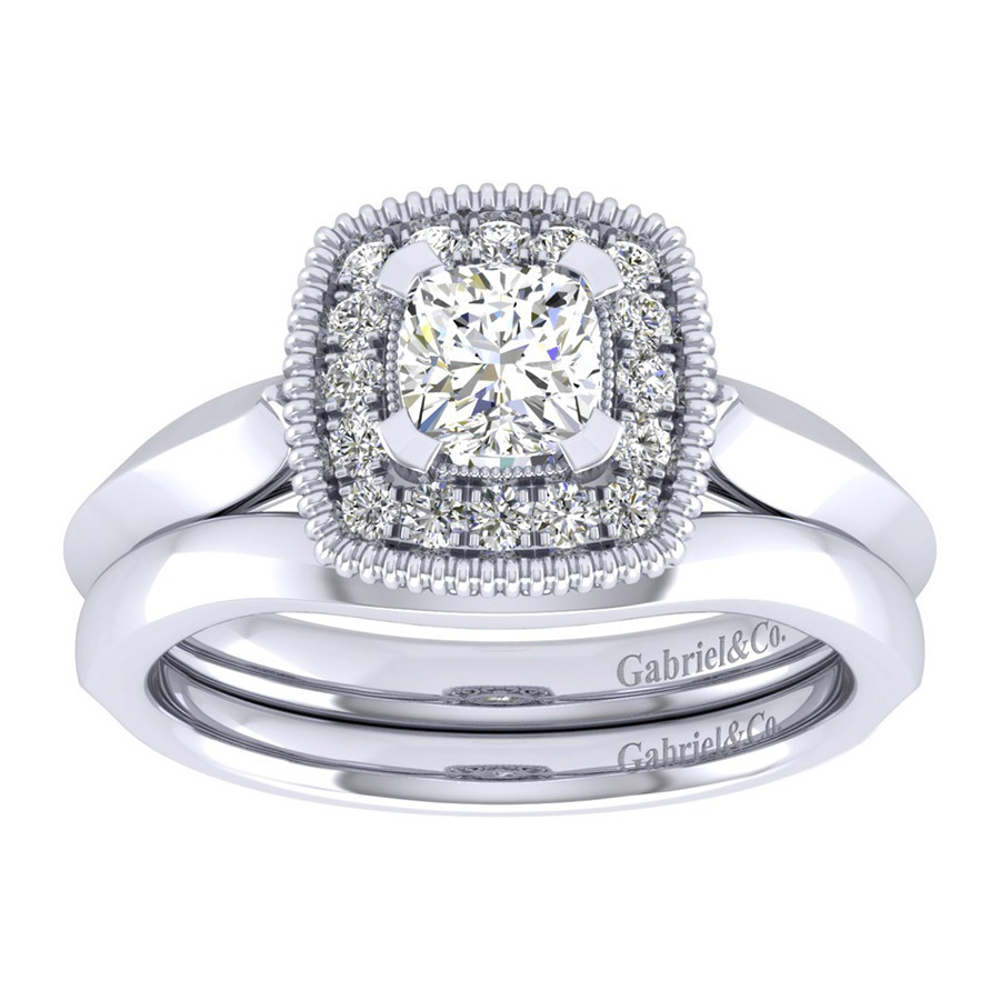 Gabriel 14 Karat Perfect Match Engagement Ring ER001B3AKW44JJ Alternative View 3