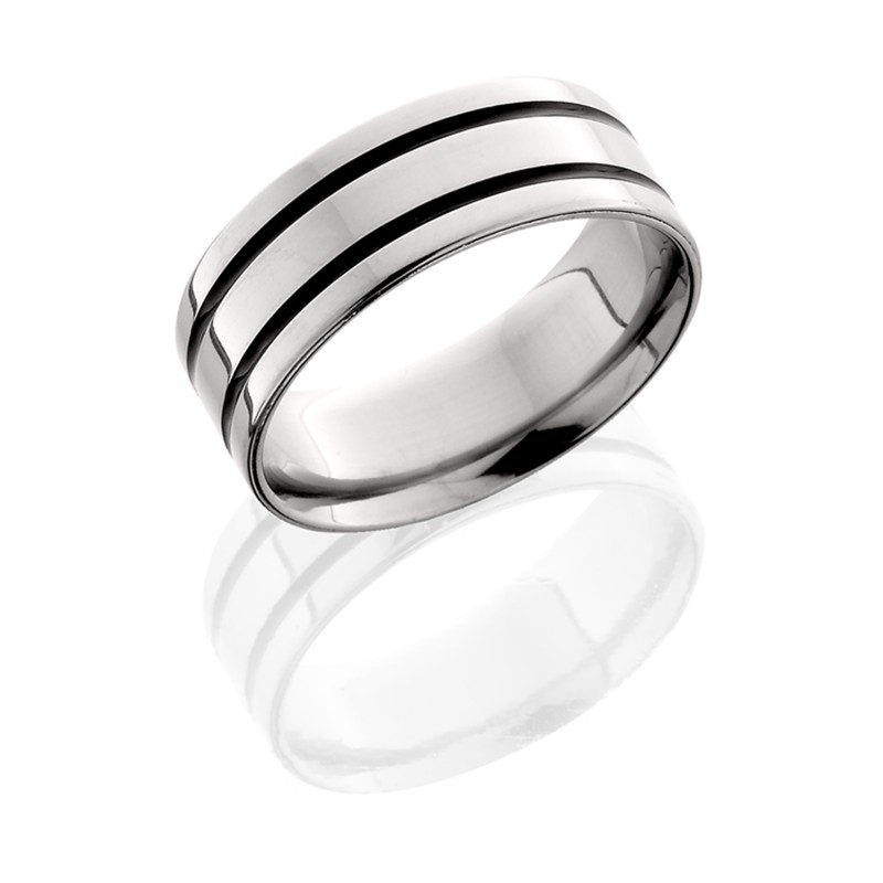 Lashbrook 8F21WA POLISH Titanium Wedding Ring or Band