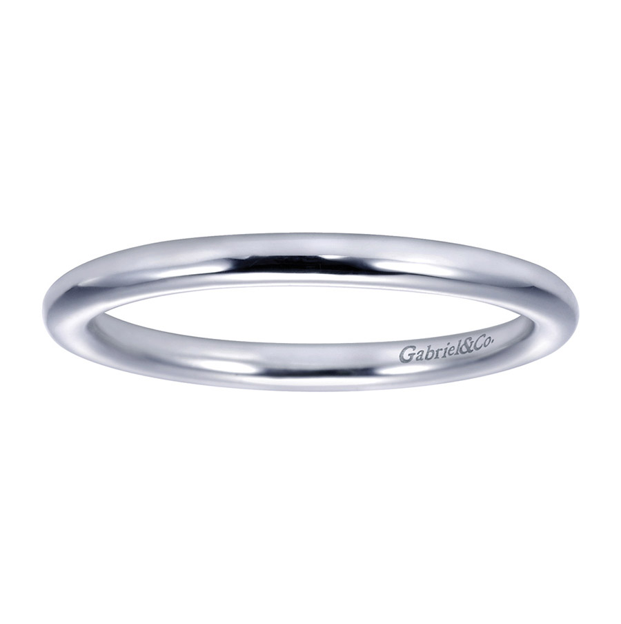 Gabriel Platinum Contemporary Wedding Band WB7894PTJJJ Alternative View 4