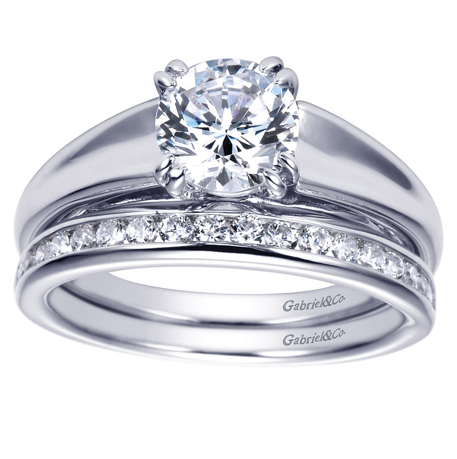 Gabriel Platinum Contemporary Engagement Ring ER8137PTJJJ Alternative View 3