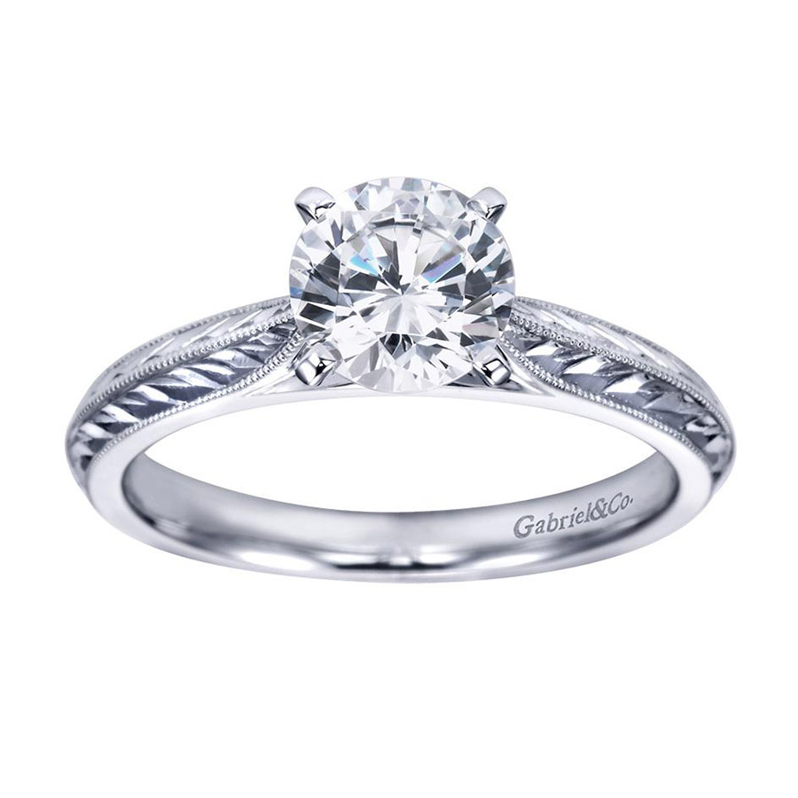 Gabriel Platinum Victorian Engagement Ring ER6707PTJJJ Alternative View 4