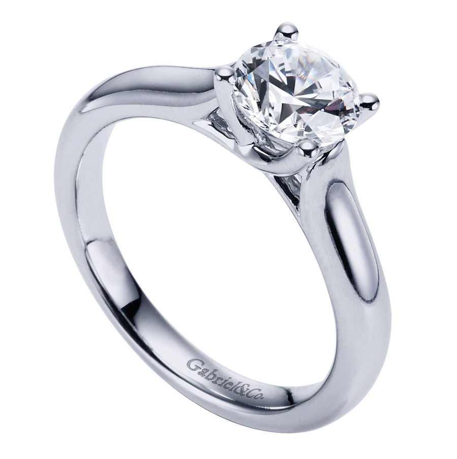 Gabriel Platinum Contemporary Engagement Ring ER6601PTJJJ Alternative View 2