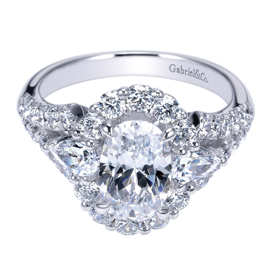 Gabriel 18 Karat Contemporary Engagement Ring ER8942W83JJ