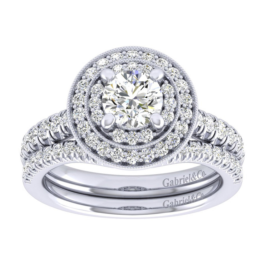 Gabriel 14 Karat Perfect Match Engagement Ring ER039B3AHW44JJ Alternative View 3