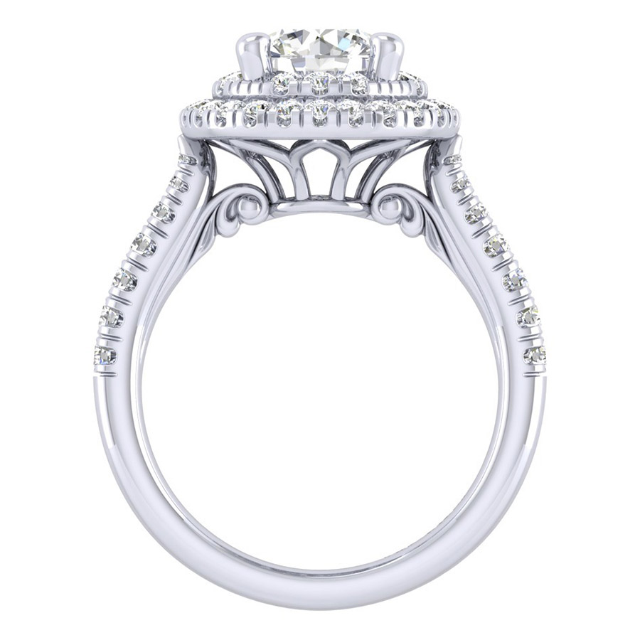 Gabriel 14 Karat Perfect Match Engagement Ring ER039C6AIW44JJ Alternative View 1