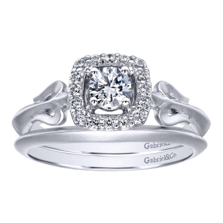Gabriel 14 Karat Contemporary Engagement Ring ER911729R0W44JJ Alternative View 3