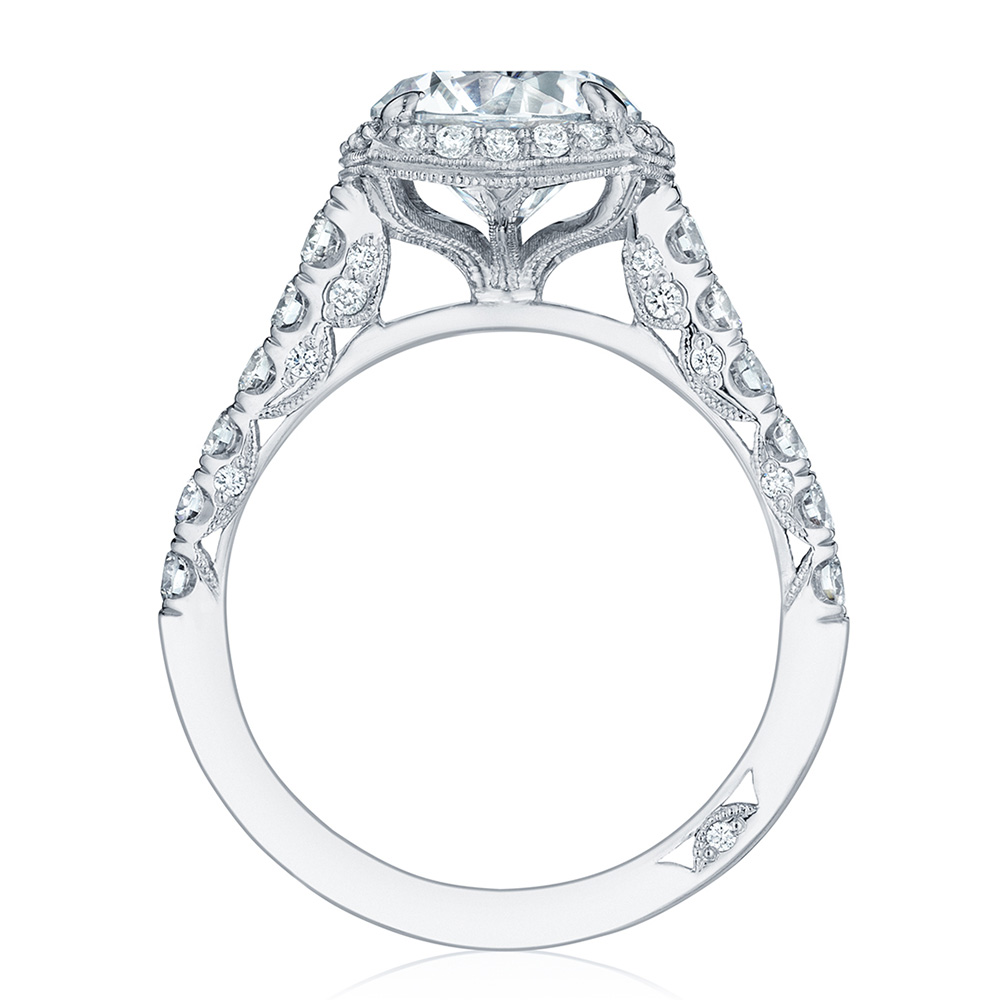 HT254725CU85 Platinum Tacori Petite Crescent Engagement Ring Alternative View 1