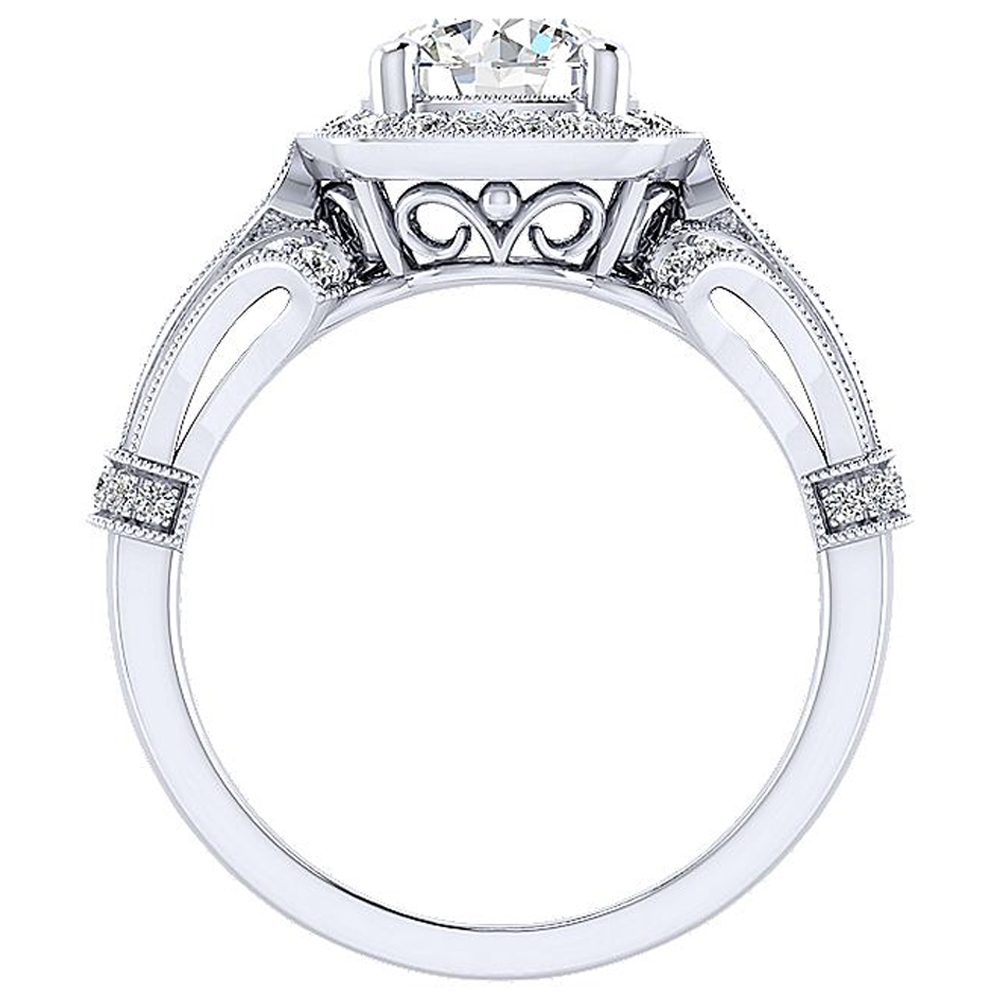 Gabriel 14 Karat Round Halo Engagement Ring ER12442W44JJ Alternative View 1