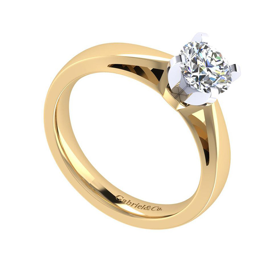 Gabriel 14 Karat Contemporary Engagement Ring ER8132M4JJJ Alternative View 2