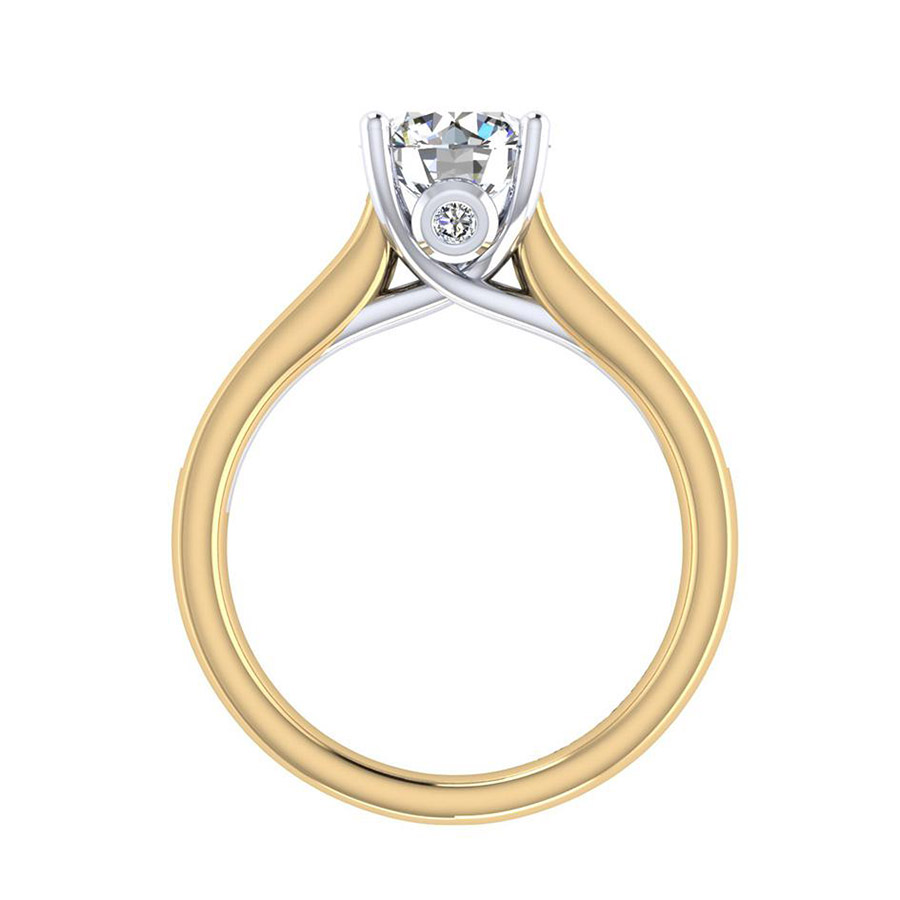 Gabriel 14 Karat Contemporary Engagement Ring ER8191M44JJ Alternative View 1