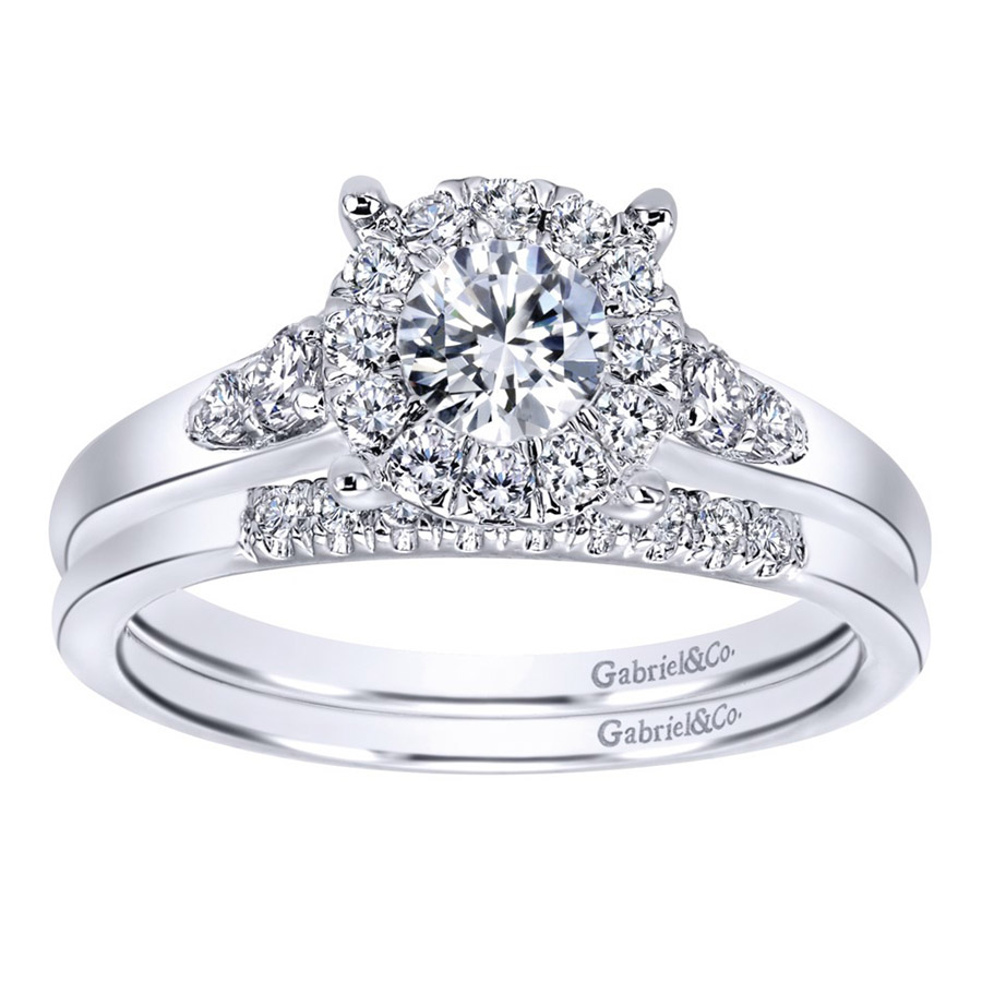 Gabriel 14 Karat Contemporary Engagement Ring ER910940W44JJ Alternative View 3