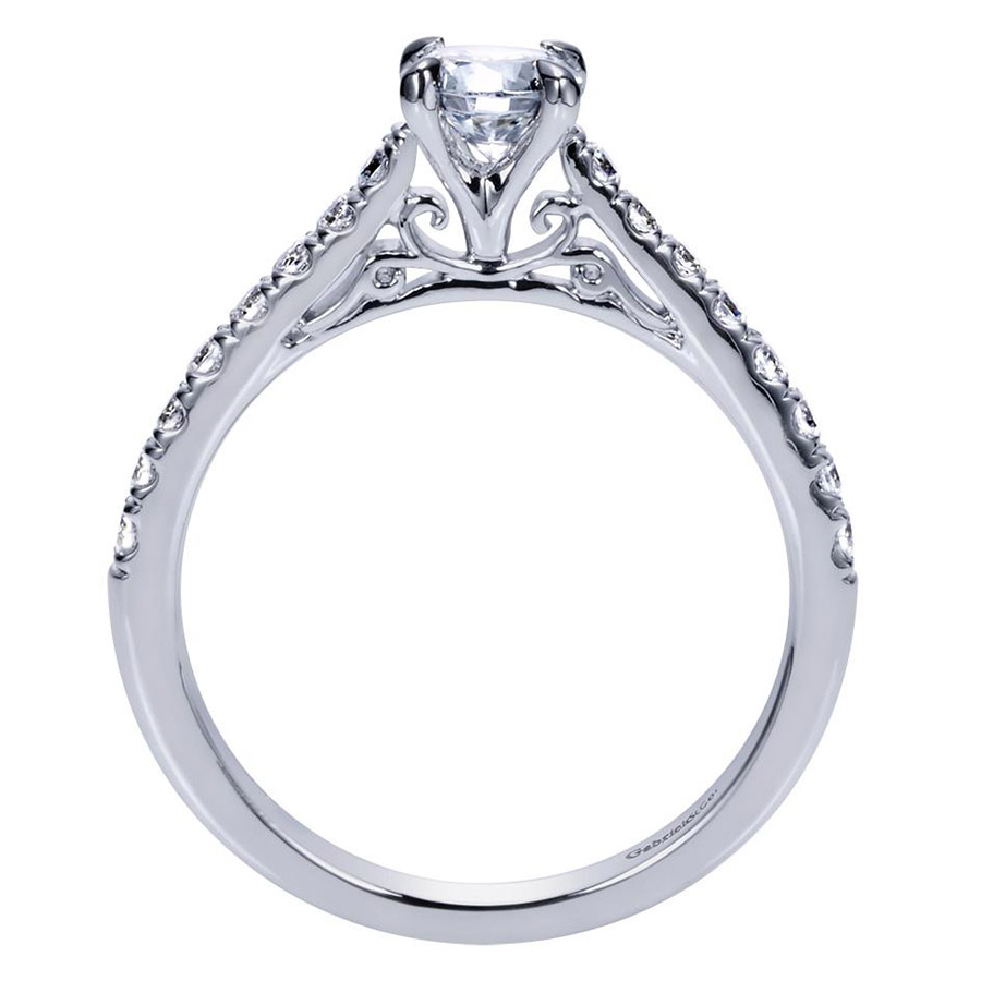 Gabriel 14 Karat Contemporary Engagement Ring ER98539W44JJ Alternative View 1