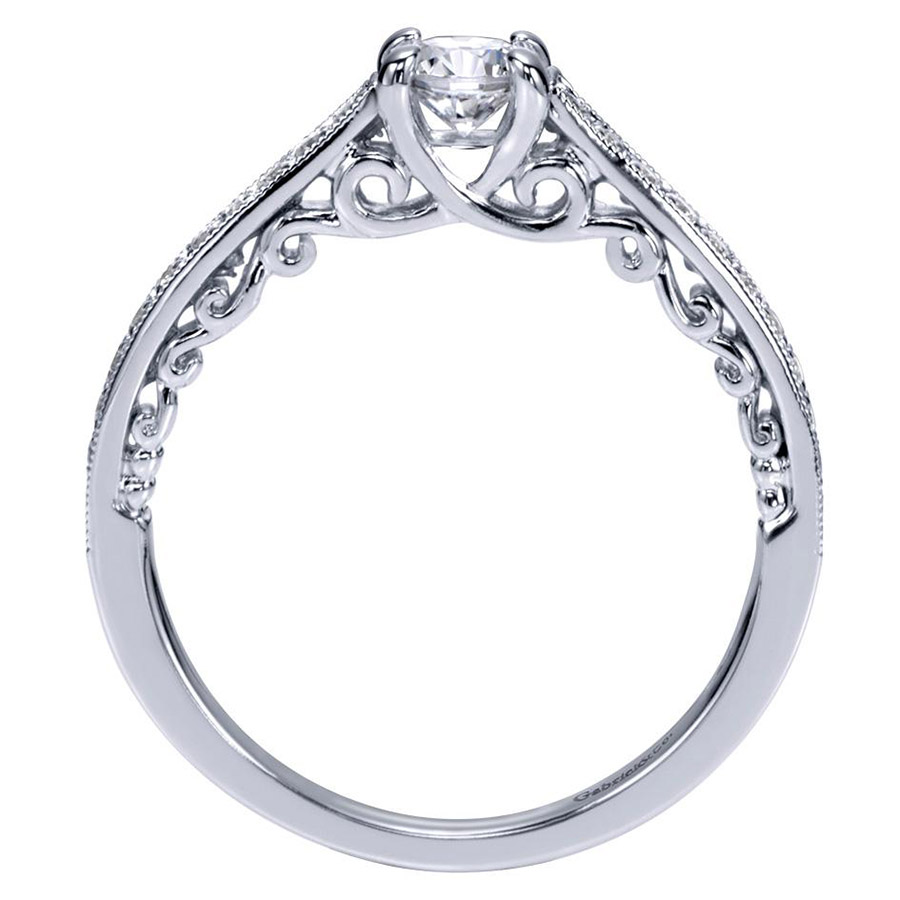 Gabriel 14 Karat Victorian Engagement Ring ER98671W44JJ Alternative View 1