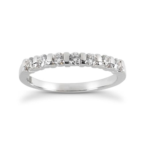 Diamond Five Stone Band 14 Karat Taryn Collection TQD B-792-5