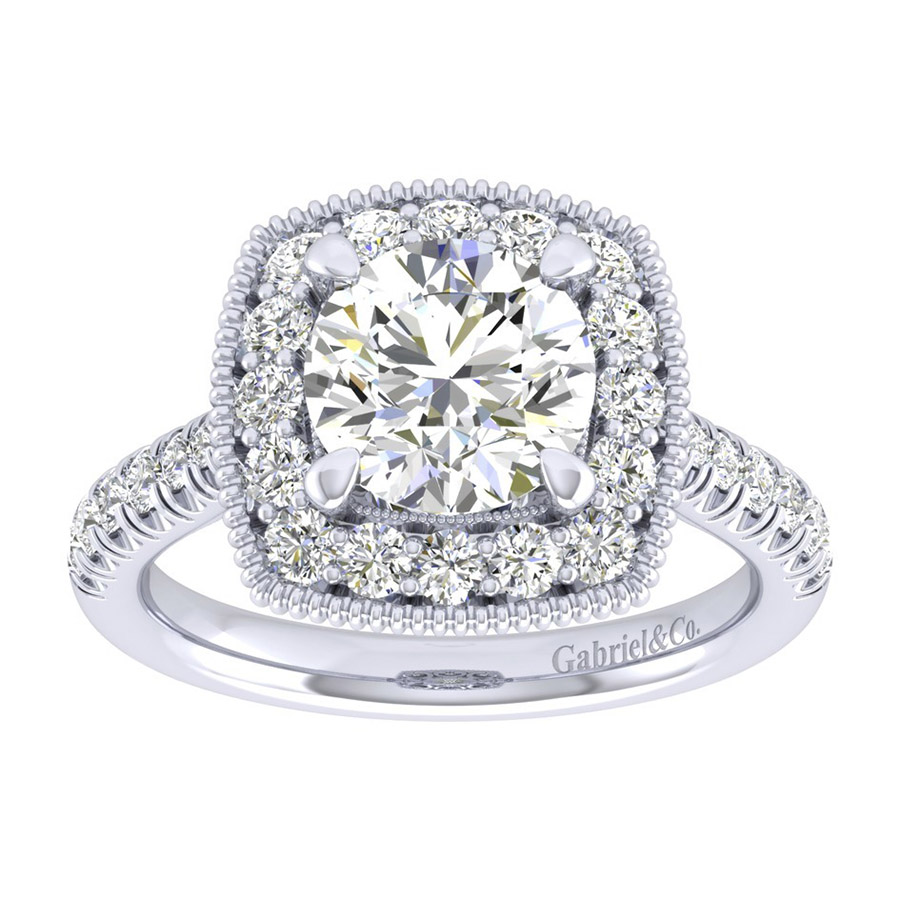 Gabriel 14 Karat Perfect Match Engagement Ring ER039C8ABW44JJ Alternative View 4