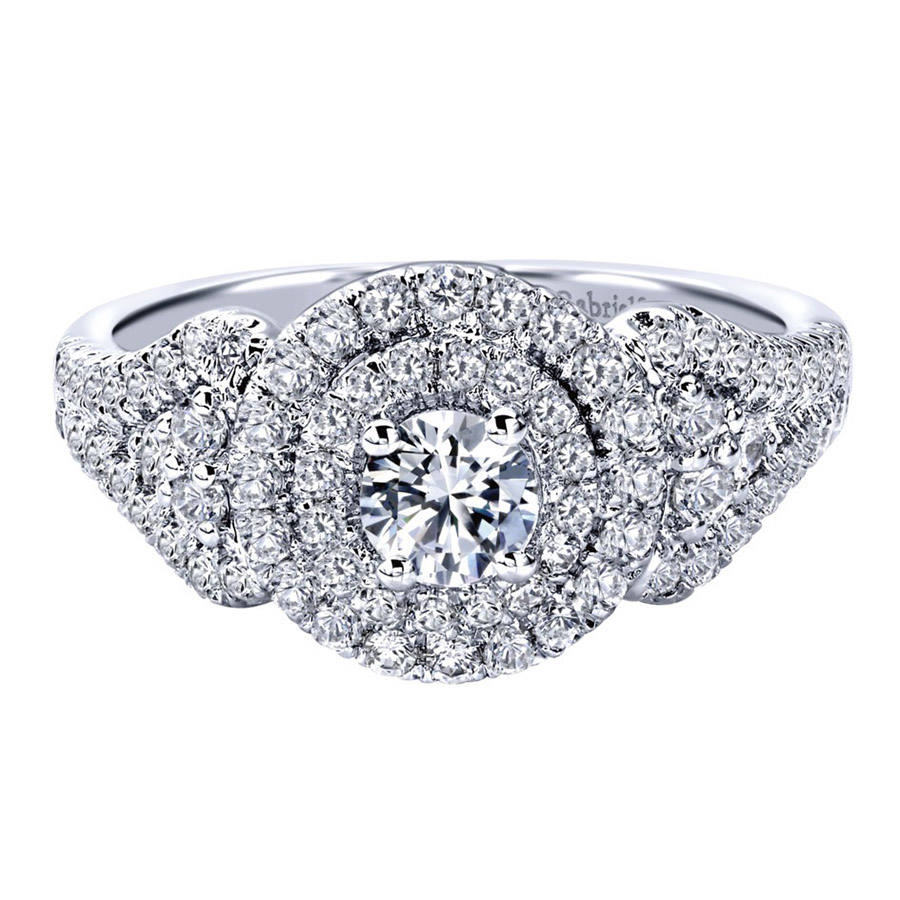Gabriel 14 Karat Contemporary Engagement Ring ER910145W44JJ