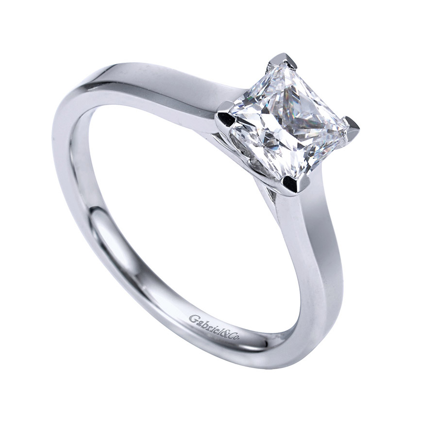 Gabriel Platinum Contemporary Engagement Ring ER6575PTJJJ Alternative View 2