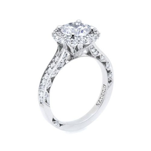 HT2522RD7 Tacori Crescent Platinum Engagement Ring Alternative View 3