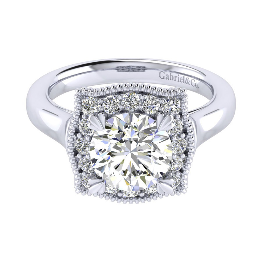 Gabriel 14 Karat Perfect Match Engagement Ring ER009C8AAW44JJ