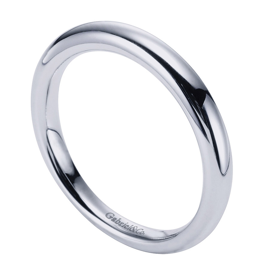 Gabriel Platinum Contemporary Wedding Band WB6601PTJJJ Alternative View 2