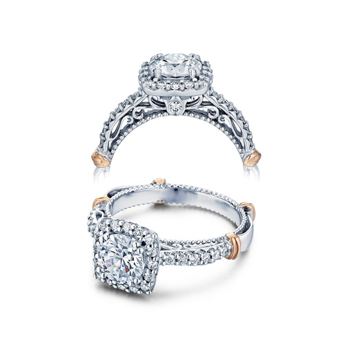 Verragio Parisian-123CU Platinum Engagement Ring