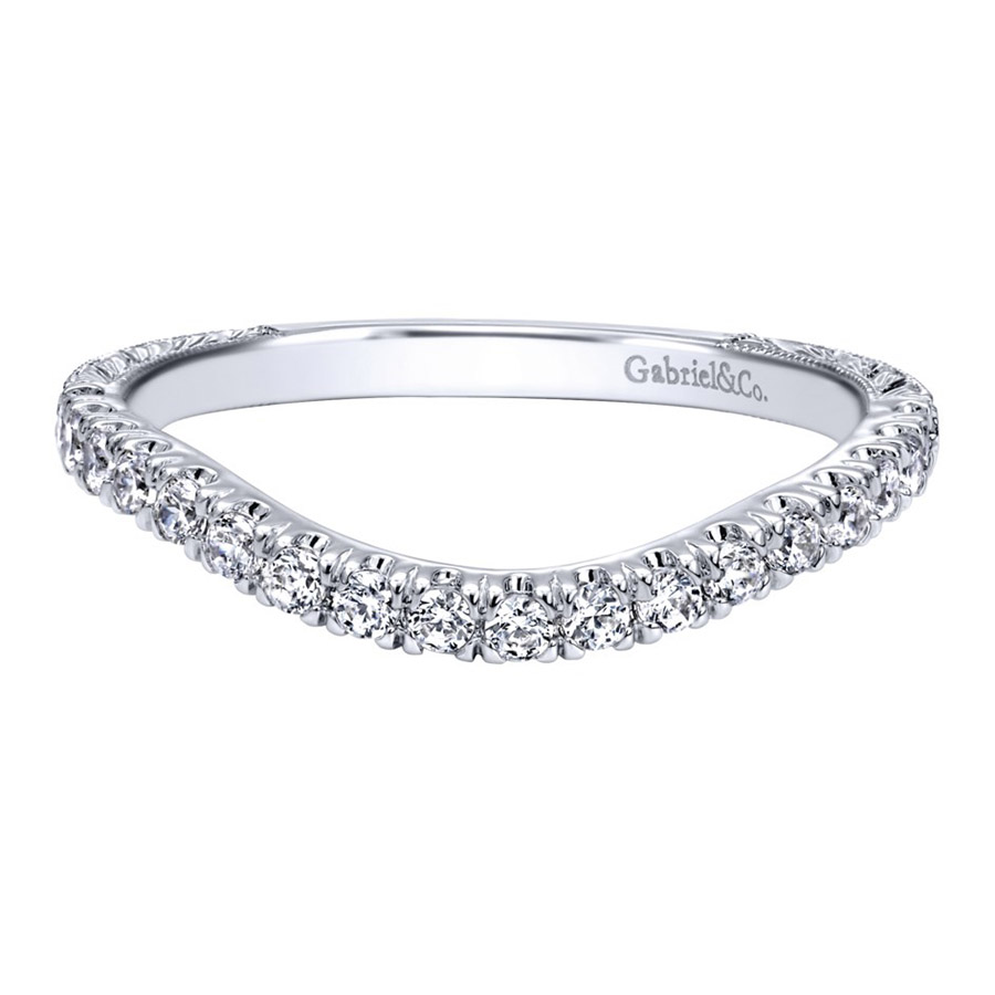 Gabriel 14 Karat Contemporary Wedding Band WB10086W44JJ
