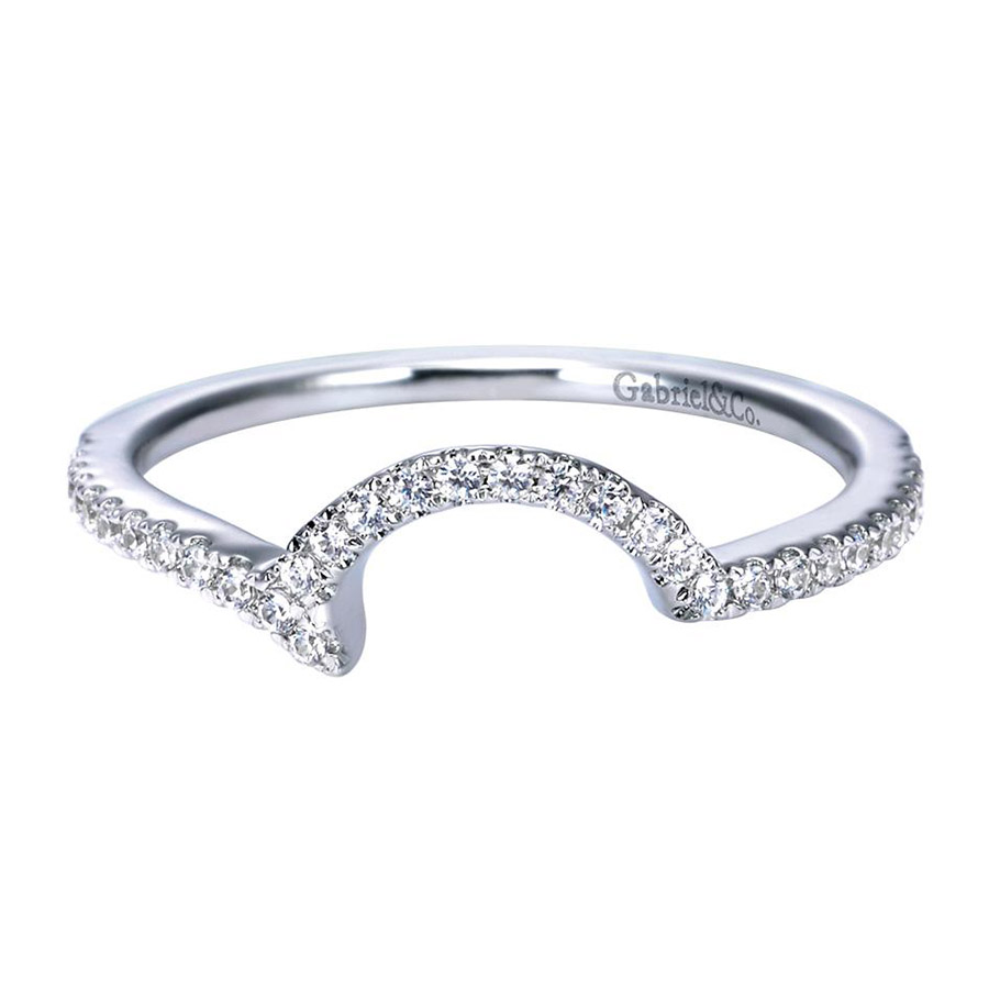 Gabriel 14 Karat Contemporary Wedding Band WB7718W44JJ