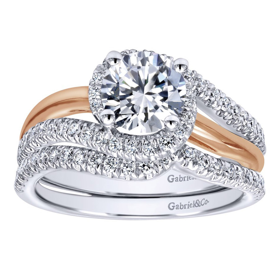 Gabriel 14 Karat Contemporary Engagement Ring ER10308T44JJ Alternative View 3
