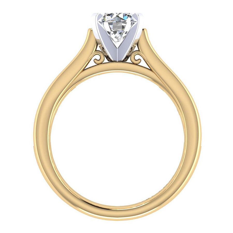 Gabriel 14 Karat Contemporary Engagement Ring ER7438M44JJ Alternative View 1