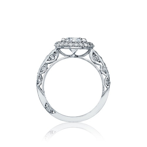 HT2520CU75 Tacori Crescent Platinum Engagement Ring Alternative View 1