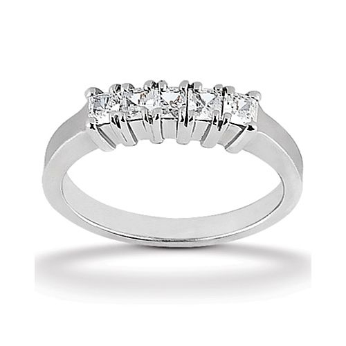 Diamond Five Stone Band 14 Karat Taryn Collection TQD B-036